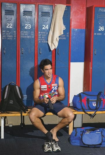Ray Bartholomew sits by his locker in the West Perth change rooms.Picture: Dan White