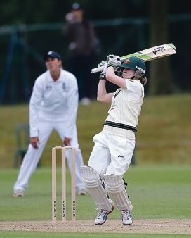 Rachael Haynes, of Australia, hits out against England this week in Wormsley.