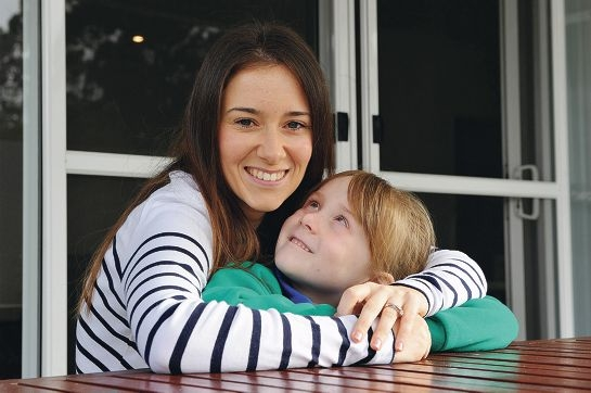 Nikki Pol and her daughter Isabelle ahead of the Abseil for Princess Margaret Hospital fundraising event. Picture: Jon Hewson www.communitypix.com.au d405966