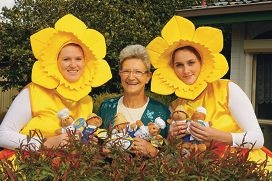 Daffodil day volunteers Kirsty Hutchinson, Carine Leeflang and Stephanie Neale.