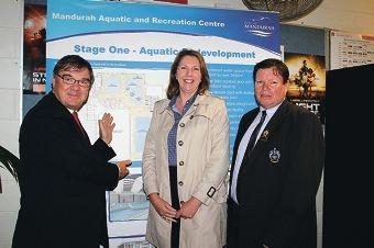 Brand MLA Gary Gray, Regional Australia Minister Catherine King and Mandurah Deputy Mayor Darren Lee.