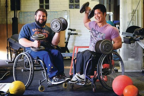 Power-lifters Ben Wright and Nang Van Nguyen are hoping to compete at a Malaysian championship. Picture: Marcelo Palacios www.communitypix.com.au d405901