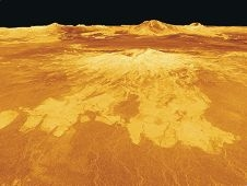 An artist's impression of a Venus volcano. Picture: NASA