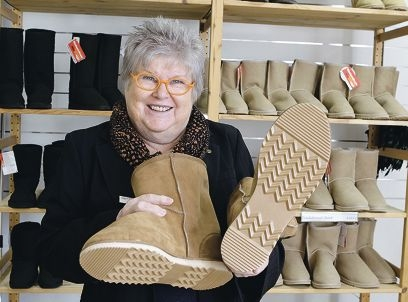 Judy Smyth is owner of successful Fremantle business Bindoon Boots. Picture: Martin Kennealey d404428
