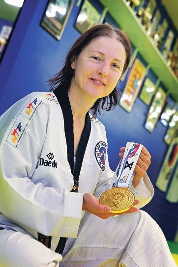 Carmela Hartnett recently returned victorious from the Taekwondo World Championships. Picture: David Baylis d405473