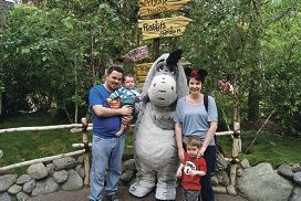 The family at Disneyland.