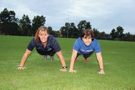 Step into Life trainer Marnie Cook and participant Cathy Buchanan.