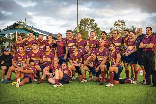The victorious Wests side. Picture: Sebastian Wegener