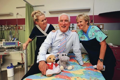 Registered nurse Tanya Hill, Ramsay WA manager of operations Kevin Cass- Ryall and enrolled nurse Jill Russell in Peel Health Campus' Children's Sarich Ward Picture: Jon Hewson