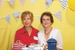Anne Still and Joan Sivyer at the launch of the Biggest Morning Tea.