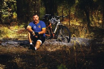 Ron Colman on the Munda Biddi Trail. Picture: Andrew Ritchie www.communitypix.com.au d397926