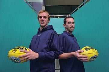 Umpires Callum Brown and Matt Laycock.d397642