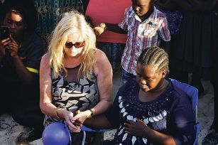 Mayor Tracey Roberts and Jenon's mother Grace Biwot. Pictures: Justin Bianchini