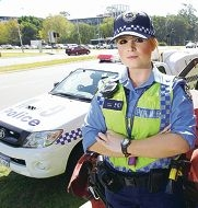 Constable Leah Daly will be on patrol during Operation Crossroads this Easter.