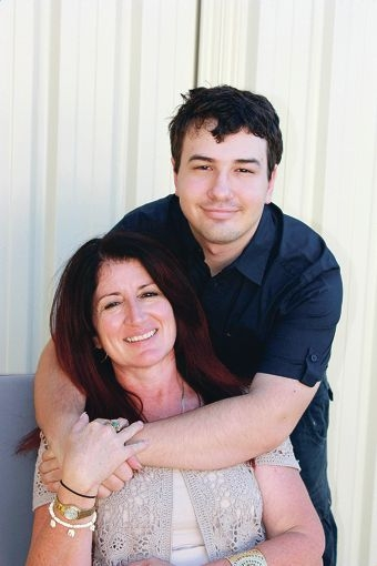 Golden Bay author Hayden Selfe (18) with his mother Gail.