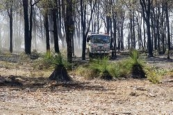 Firefighters clean up after this week's Glen Forrest blaze. Pictures: Emma Reeves www.communitypix.com.au d396670