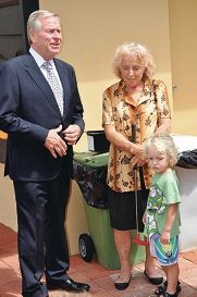 Colin Barnett, with Helen Page and her great grandson Lleyton.