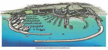 An artist's impression of how the completed Ocean Reef Marina may look.