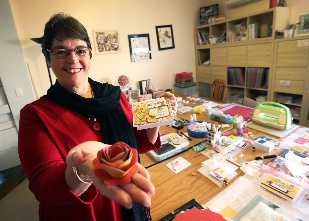 Scrapbooker Wendy Hopper will have a make-and-take stall at the Craft and Quilt Fair this week.