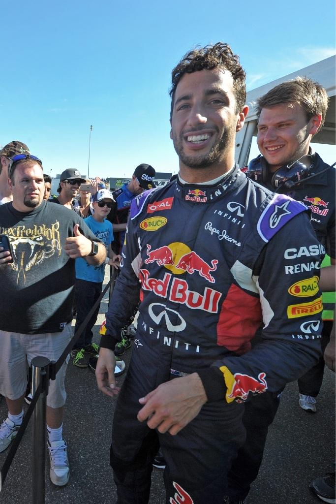 Happy to be home: Daniel Ricciardo.  Picture: Jon Hewson