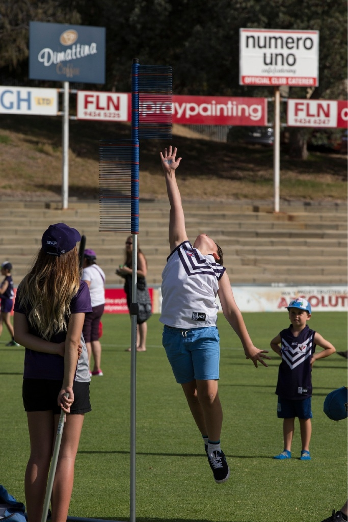 Santa comes early to Freo Oval