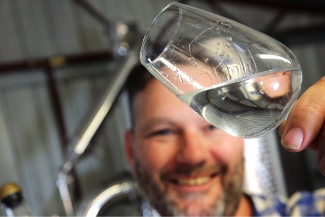 In high spirits: James Young at his Wild Swan Distillery. Picture: David Baylis www.communitypix.com.au   d446908