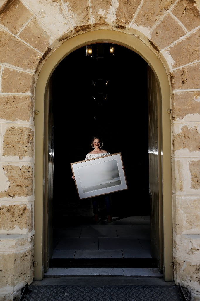 Aimee Jones is holding an exhibition of photos taken after an impromptu trip to Lancelin.Picture: Will Russell www.communitypix.com.au d446476
