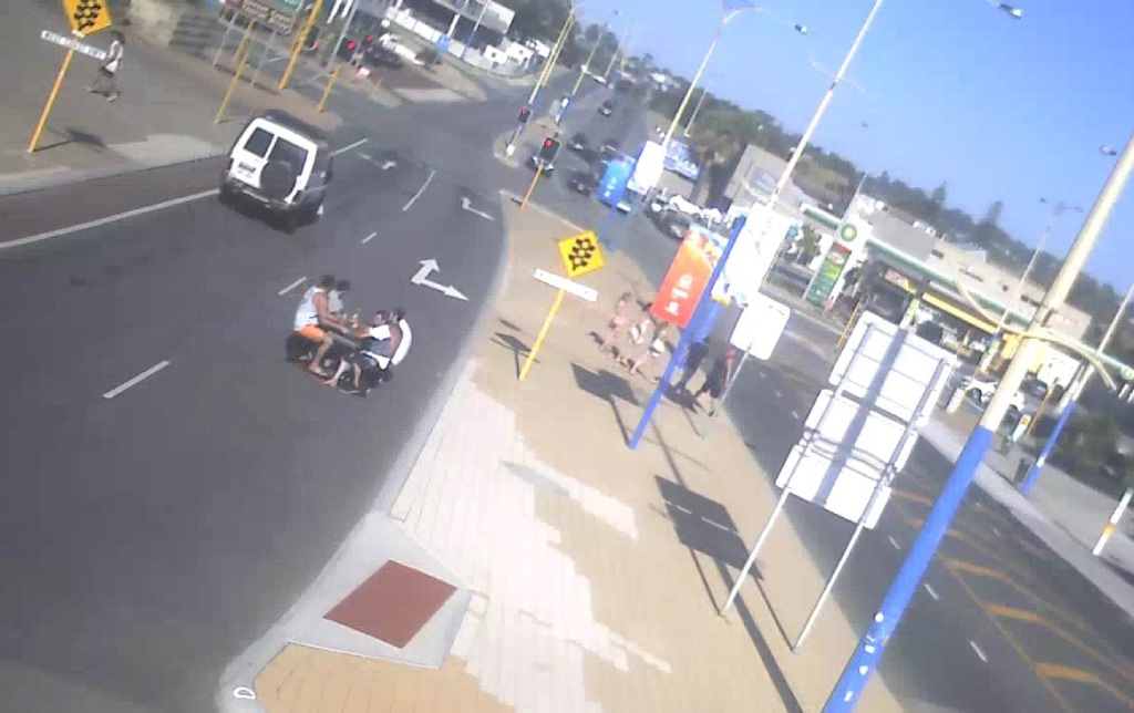 Security camera footage of the unlicensed, unroadworthy vehicles.