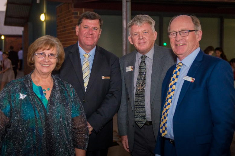 Tranby College Chair of Board Ms Woolfenden, new principal Clayton Massey, UCA of WA's Reverend Francis and UCA of WA general secretary Rev de Kock.
