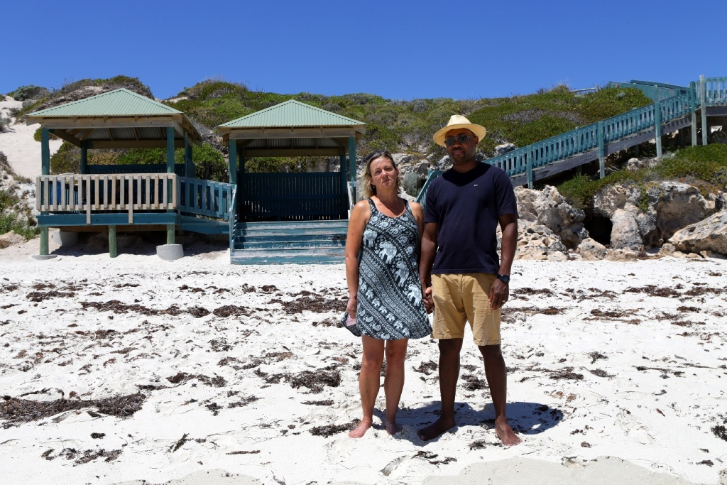 Annica and Lanre Odina want to install a plaque in the hut behind them, where their son Daniel's backpack was found shortly before they discovered he had died.  Picture: Martin Kennealey www.communitypix.com.au   d446522