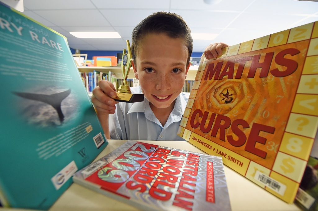 Kai Bartusch gets a lot of enjoyment from his immersion in all things maths. Picture: Jon Hewson        www.communitypix.com.au   d446143