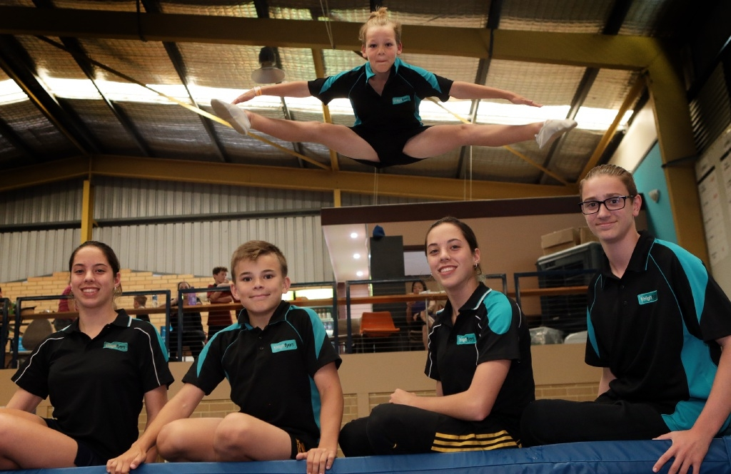 Trampolinists Kayla Nel, Liam Jeans, Keara Nel), Adam Paolo and Lachlan Robertson.d445002