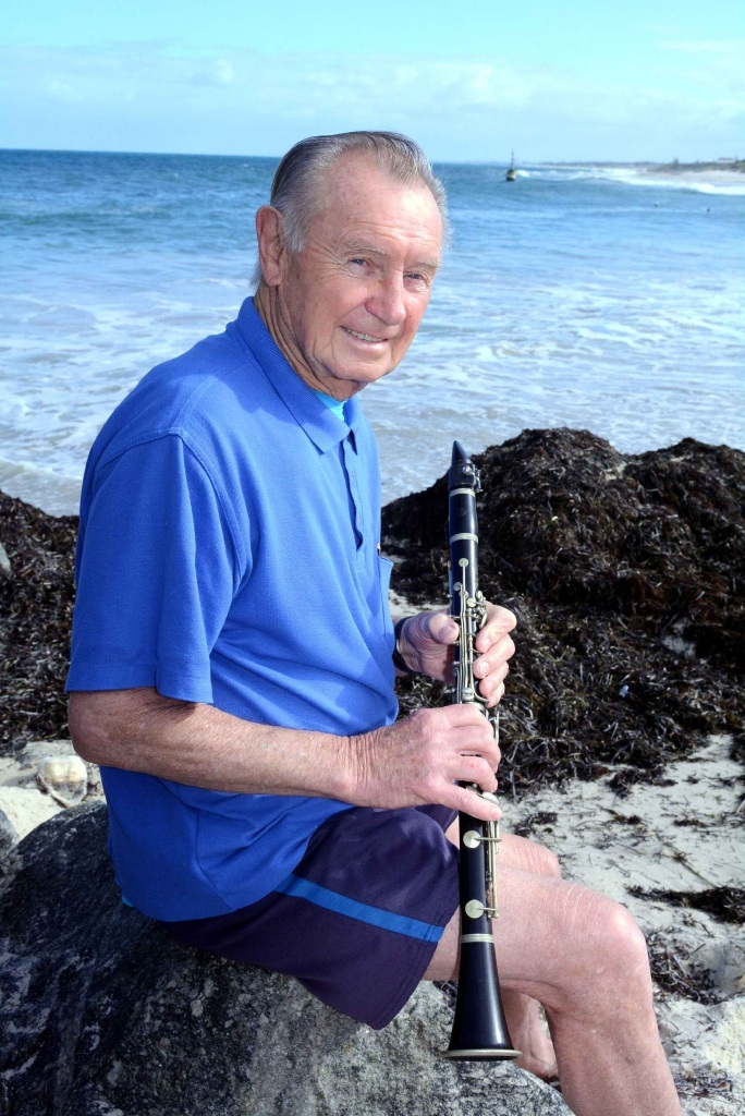 Jazz Fremantle founding member Lew Smith still organises gigs and plays at the Navy Club in Fremantle.