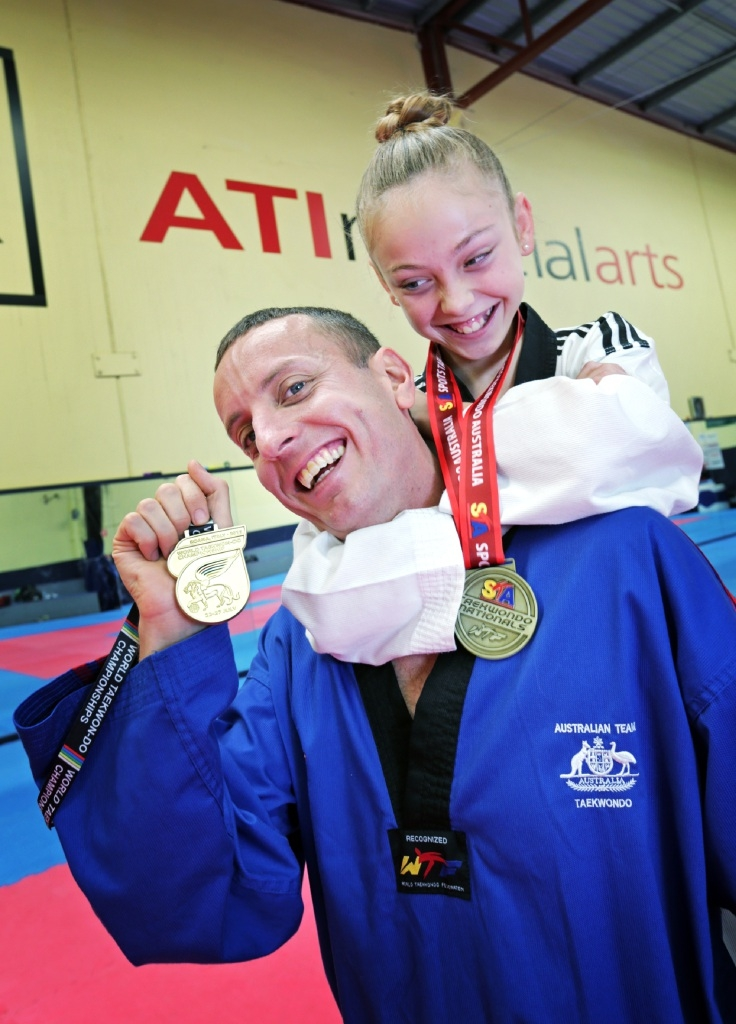 Ashley Ratten of Dianella with daughter Sonya Peric-Ratten (11).   Picture: David Baylis www.communitypix.com.au   d444077