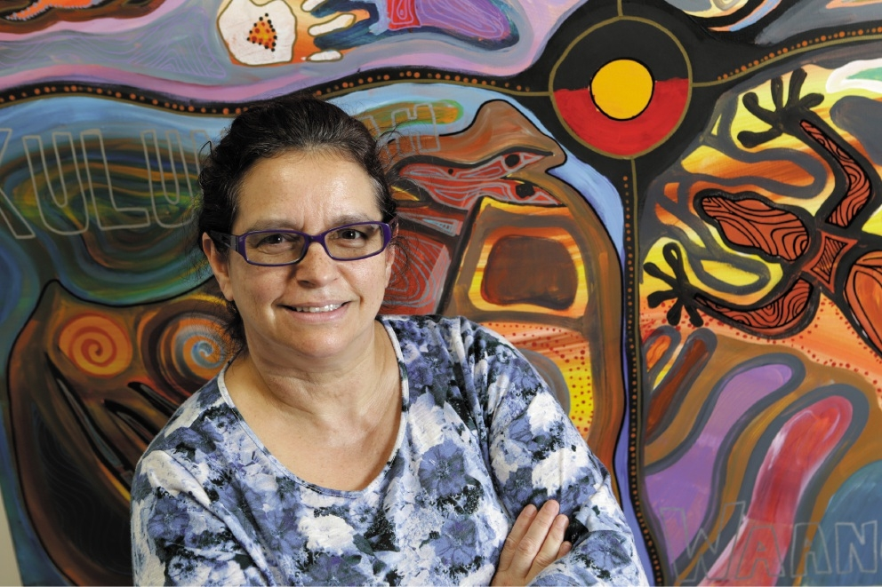 Angela Ryder, who was part of the Stolen Generation, is offering language and cultural support through the Langford Aboriginal Association. Picture: Marcelo Palacios