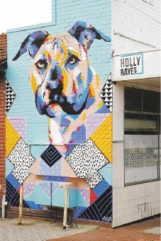 The new mural outside Holly Rye's cafe.Picture: Marie Nirme d442817