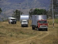 Water tanks delivered to villages in Timor-Leste.