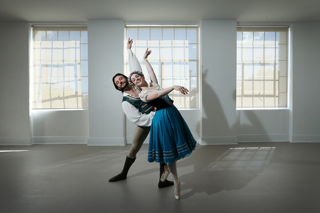Matt Lehmann (Perth) and Meg Parry (Bayswater) as Franz and Swanilda in Coppelia. Picture: Andrew Ritchie d442676