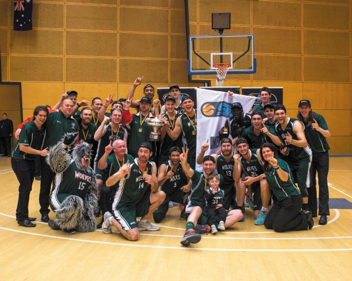 The Joondalup Wolves celebrated their third SBL championship on Saturday. Picture: Serene Maisey