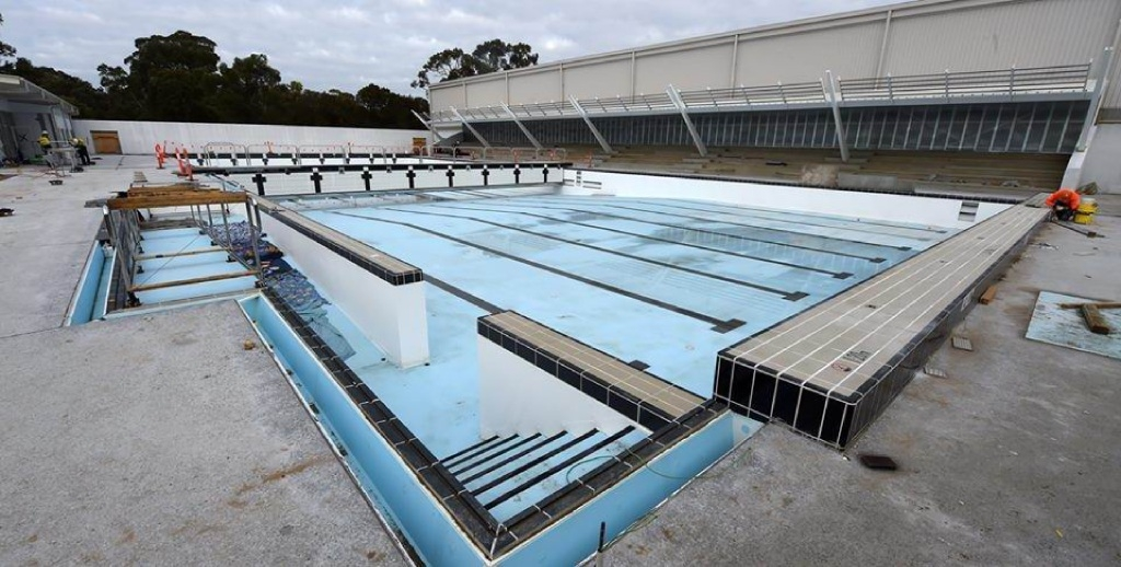 The 50m outdoor pool