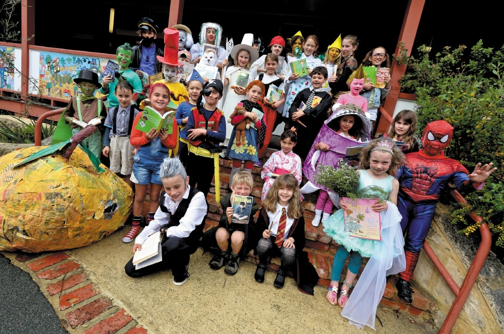 Students in their costumes for Book Week.           www.communitypix.com.au   d442175