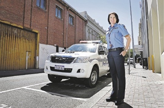 Fremantle Police Station officer-in-charge Kellie Taylor, who has five Local Policing Teams under her watch.Picture: Elle Borgward www.communitypix.com.au   d434238