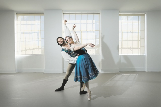 Matt Lehmann and Meg Parry as Franz and Swanilda in Coppelia.  Picture: Andrew Ritchie        www.communitypix.com.au   d442676