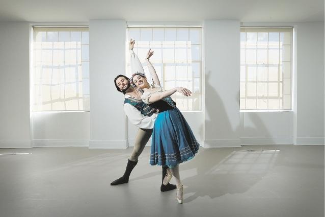 Matt Lehmann and Meg Parry as Franz and Swanilda in Coppelia.  Picture: Andrew Ritchie www.communitypix.com.au   d442676