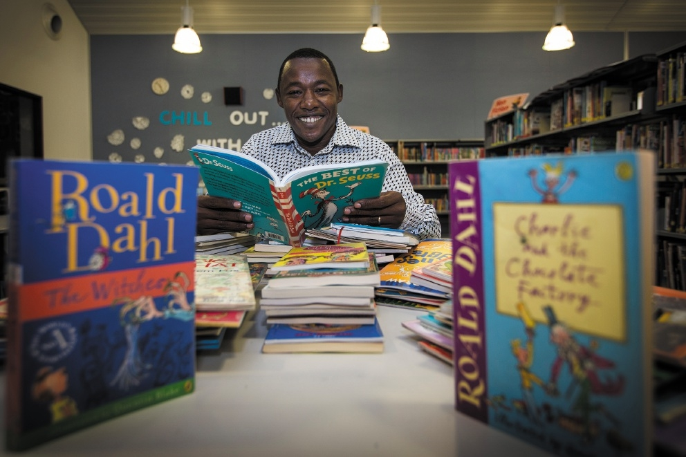 Yared Wolde is visiting a number of schools in Perth that have helped his charity, the School of St Yared. Picture: Will Russell www.communitypix.com.au   d442016