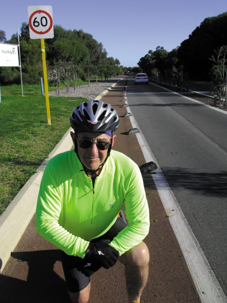 Mandurah Over-55 Cycling Club president John Ellis said the delineators were dangerous.