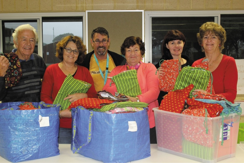 Swan Valley Rotary Club members Chris Amoove, Donna Evans, Gary Evans, Dianne Cunningham, Penny Hooper and Betty Pitcher.