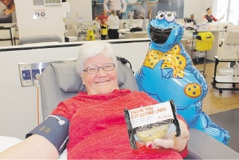 Monster treat for blood donors
