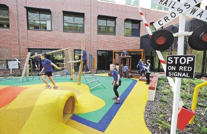 Playground designed to promote recovery