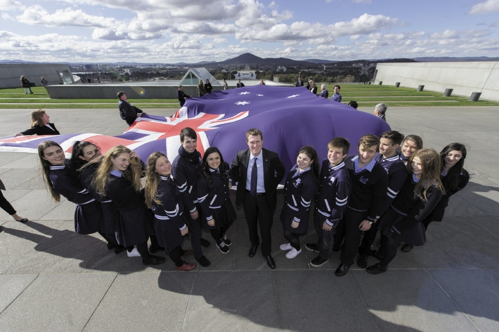 Helena College students with Pearce MHR Christian Porter in Canberra.